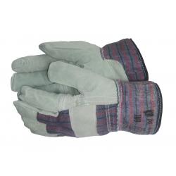 Перчатки спилковые зимние...